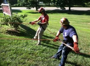 CSFC rope rescue training