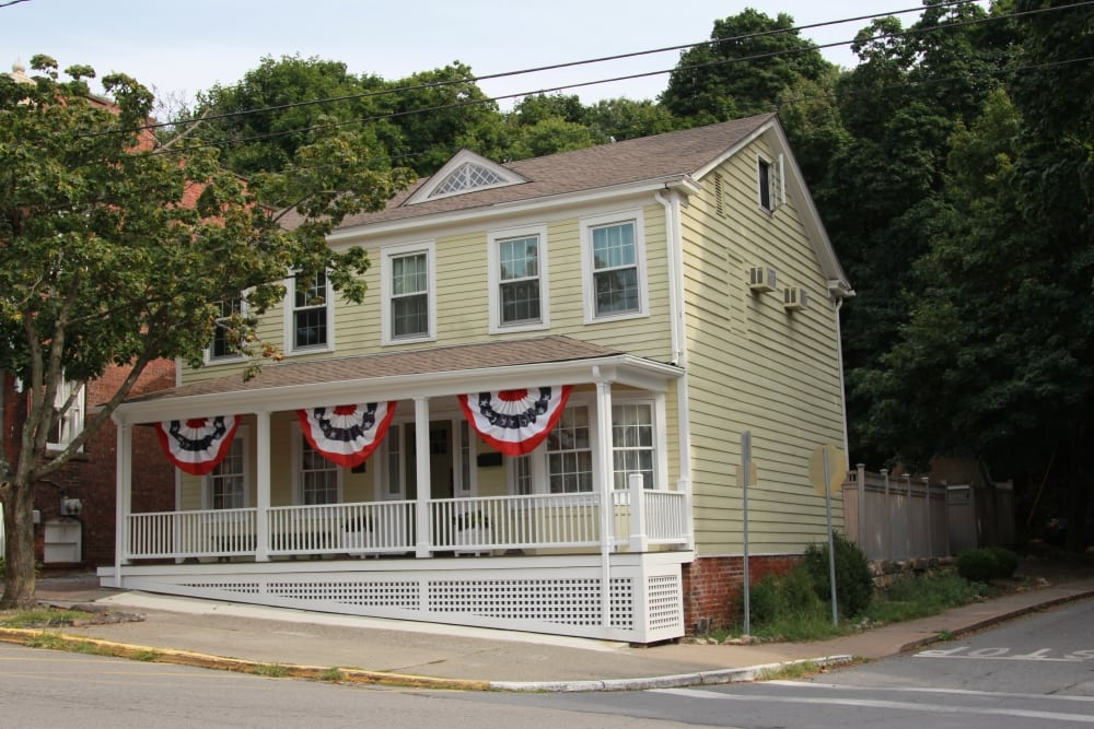 House on Main Street bottom of the hill