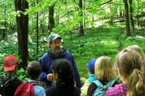 Pete Salmansohn leads stream study Forest Day  (file photo)