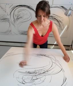 Jaanika Peerna in her studio (photo by Tom Loggia)