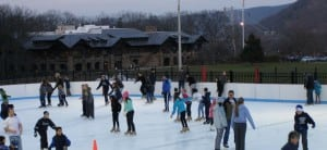 Skaters glide around the ice at Bear Mountain Ice Rink. Photo by M.A. Ebner