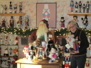 Linda LeMon, holding one of her 300+ nutcrackersPhoto by A. Rooney