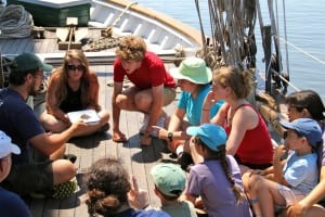 A 2012 River University class on the sloop Clearwater. Photo courtesy of Beacon Institute