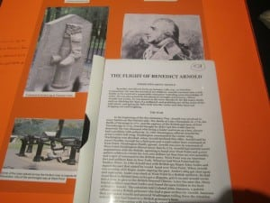 A Saunders History Contest project on the flight of Benedict Arnold (Photo by A. Rooney)