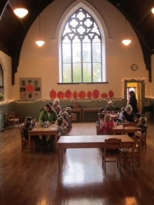 The main room at St. Philip's Parish House, decorated for the autumn season, serves as host for many of the children's activities. Photo by A. Rooney