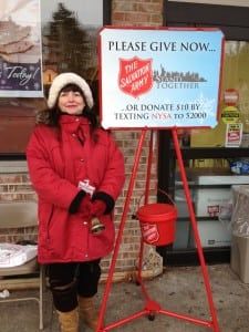 Christine Locaparra at her post in front of Foodtown in Cold SpringPhoto by C. Simek