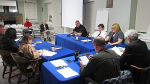 Haldane School Board Trustees discuss a spending plan at their Jan. 2 meeting.Photo by M. Turton