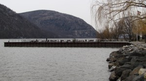 Current water levels at Cold Spring's dock. Photo by M. Turton