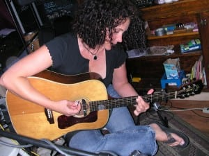Kathleen Pemble with guitar
