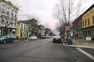 Plans for the bicycle race in May caused consternation on Main Street in January. Photo by L.S. Armstrong