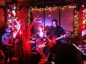 In performance at the first 'Ziggy Stardust' tribute concert at the Dogwood in Beacon (Photo courtesy BMF)