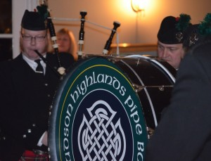 The Hudson Highlands Pipe Band played at their annual Burns Night fundraiser on Saturday, Jan. 26, at Highlands Country Club in Garrison. Photo by J. Tao