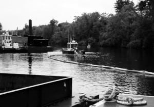 Hudson River dredging (Source: EPA Superfund website)