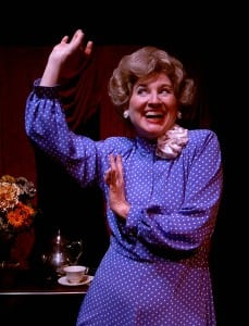 Elaine Bromka as Betty Ford in 'Tea for Three' (Photo by Ron Marotta)