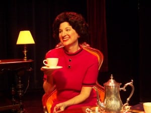 Elaine Bromka as Lady Bird in 'Tea for Three' (Photo by Natalie Heller)