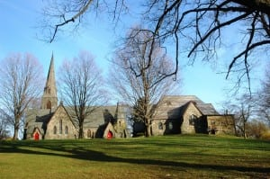 The lawn leading up to St. Mary's Church (Photo courtesy of St. Mary's)