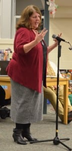 Kathryn Rohe, chair of special education at Garrison School, presents to the School Board on Feb. 6. Photo by J. Tao