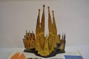 Spread of Sagrada Familia from Gaudi Pop-Ups