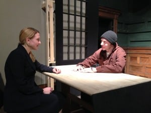 Ali Bernhardt and Brendan Ryan in Prisoners at the Depot Theatre