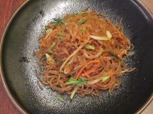 Chapchae (sweet potato noodles)