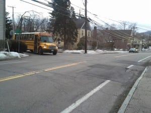 The intersection of Main Street/Route 301 and Peekskill Road is where a crosswalk will be created by the NYSDOT. Photo by J. Tao