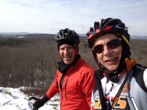 THX members Glenn Lowry (director of MoMA), left, and Morgan Stebbins out for a bike ride near Fahnestock on Sunday, Feb. 3. Photo courtesy of Morgan Stebbins