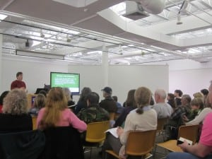 A large crowd of potential citizen scientists attended the FrogWatch training. Photo by A. Rooney