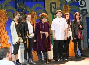 Garrison School eighth graders in 'The Tempest' (Photo courtesy of GUFS)
