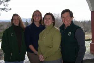 Hudson Highlands Land Trust staff members Katrina Shindledecker, MJ Martin, Kathy Hamel and Andy Chmar are eager to welcome new staff member Matt Decker to their conservation team. Photo by M.A. Ebner