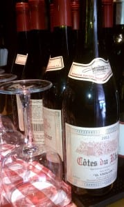 Guests can choose from a selection of French wines at Brasserie Le Bouchon.