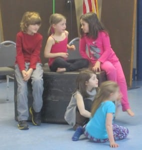 Some of the younger group checking things out at rehearsal