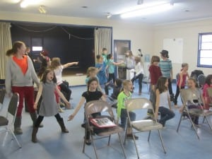 Giving their all to rehearsal of one of the musical numbers