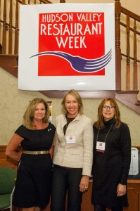Putnam County Executive MaryEllen Odell, Putnam County Director of Tourism Libby Pataki and Cathryn Fadde of Cathryn's Tuscan Grill in Cold Spring (Photo courtesy of HVRW)