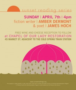 Sunset Series Poster for April 7 reading AMBER-HOCH_sunset