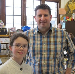 Solana McKee, left, and Art Teacher Coulter Young (Photo courtesy of Garrison School)