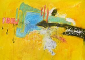 KurtisBrand,'ABridge,'acrylic,crayonandpenciloncanvas,2012 (Photocourtesyofbau)