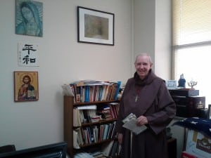 Father John Keane in his office in the Graymoor Spiritual Life Center