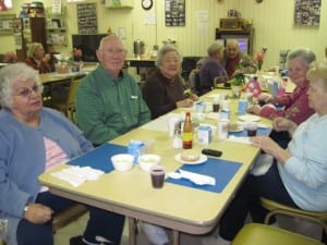 Seniors at the Nutrition Center in Cold Spring