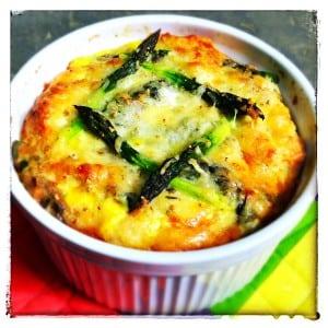 Asparagus Bread Pudding 1