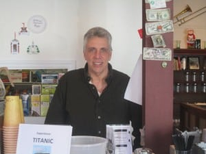 Ron Iarossi behind the counter at the Beacon Creamery.