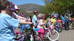 A bike-decorating contest was followed by a parade at Cold Spring's riverfront on May 5. Photo by Mike Turton
