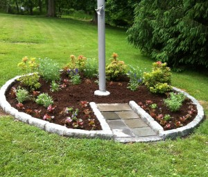 Garrison School's renovated flagpole base (Photo courtesy of GUFS)