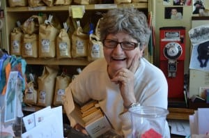 Leonora Burton at her shop
