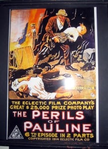 One episode of the movie serial 'Perils of Pauline' was filmed on Mount Beacon in 1914. (Image courtesy of Beacon Historical Society)