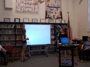 Eighth-graders present on ADHD to younger students at Garrison School's Differences Day, May 9. Photo courtesy of Garrison School