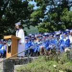 Valedictorian Carolyn Schaefer speaks.