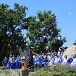 Haldane High School seniors celebrate graduation June 15.