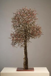 'Cherry Tree' metal sculpture by Insun Kim (Photo by Howard Goodman)