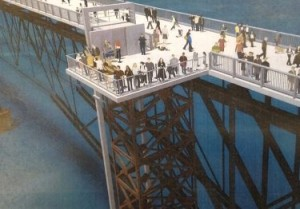 The proposed elevator at Walkway over the Hudson.