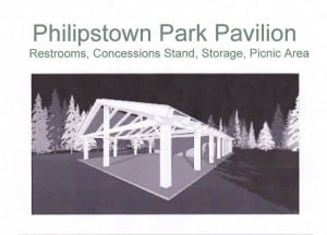 A Friends of Philipstown Recreation design for a park pavilion